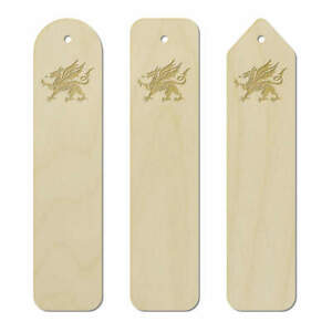 3 x 'Welsh Dragon' Birch Bookmarks (BK00006374)