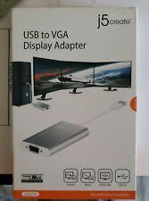 J5 Create USB™ 2.0 to VGA Display Adapter JUA210 New
