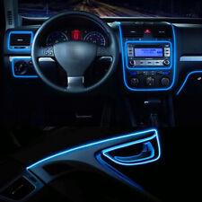 1M Blue EL Wire Car Auto Interior Neon Strip Cold light Tape + Cigarette Lighter