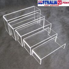 5pcs Super Deal Clear Acrylic Perspex Sturdy Jewellery Display Riser Stand 4mm