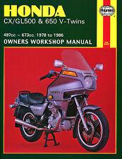 Reparaturanleitung Honda CX 500 & 650 V-Twin 78-86