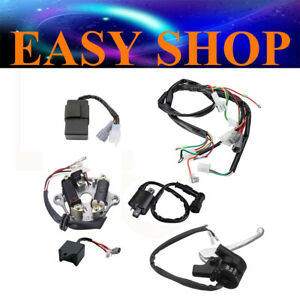 WIRING LOOM HARNESS CDI MAGNETO START SWITCH BRAKE LEVER COIL YAMAHA PW50 PY50