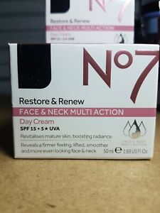 No7 Restore And Renew face and neck multi action Day Cream 50ml