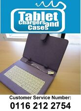 """Purple/White USB Keyboard Case/Stand for Acer Iconia Tab A1-810 7.9"""" Tablet PC"""