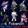 6 Pokemon Zarude Urshifu Kubfu Gigantamax 6IV Max EVs / Pokemon Sword Shield