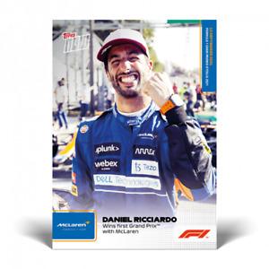 2021 Topps Now F1 51 52 53 54 Norris Ricciardo Stroll Bottas Weekly Pack PRESALE