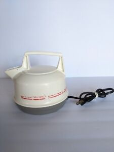 Vtg Presto Electric Tea Kettle 0270001 White Plastic RV Kitchen Appliance TESTED