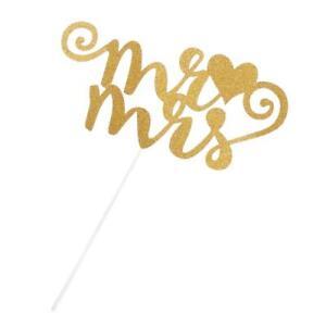 Gold/Silver Monogram Letters Cake Topper Wedding Bridal Shower Cake Decoration