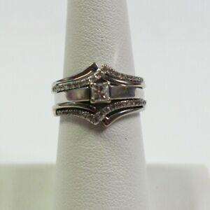 Magicglo 14K WG Diamond Wedding Set Size 6.5 .70 Carat T.W. 7.1g (GO1027427)