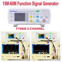Digital FY6600 15-60MHz Dual Channel DDS Function Signal Generator Waveform Kit