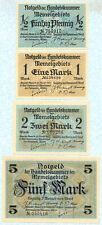 MEMEL 1/2-100 Mark 1922 P1-9 UNC