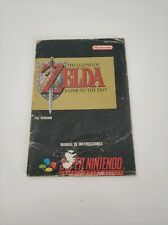 Manual de instrucciones Zelda a link to the past snes super Nintendo española