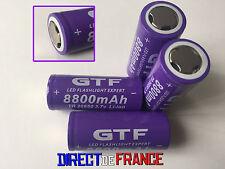 4 PILES ACCUS RECHARGEABLE BATTERIE GTF 26650 8800mAh 3.7V Li-ion PUISSANT