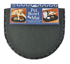 Envision Home 443300 Microfiber Pet Bowl Mat, 12.5 by 21.5-Inch, Black