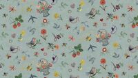 Fat Quarter Haberdashery Embroidery 100% Cotton Quilting Fabric Makower
