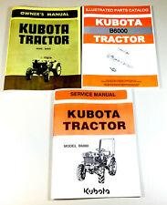 Kubota B6000 Tractor Service Parts Operators Repair Manual Shop Book Set Owners