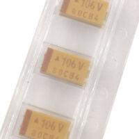 10Pcs 1206 SMD tantalum capacitor 16V 1UF 4.7UF 10UF 1 2.2 3.3 4.7 10 UF 3216 A