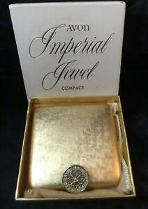 """Vintage Avon """"Imperial Jewel"""" Compact - Boxed"""