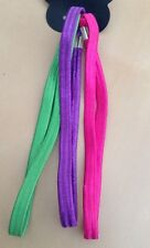 A 3 Pack Of Elasticated Head/Hair Bands Green / Pink / Purple