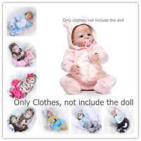 """Clothing For 20""""-23"""" Reborn Baby 22"""" Doll Boy Girl Replace Clothes Dress Outfit"""