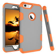 For iPhone 6 6s 7 Plus Shockproof Heavy Duty Armor Hybrid Rubber Hard Case Cover