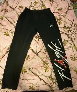 Jordan Flight Men's Graphic Joggers Pant - Black/White/red (size Large)