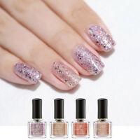 6ML BORN PRETTY Holographic Nagellack Nail Art Varnish Rose Gold Effekt Maniküre