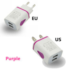2 Ports Universal Home Travel AC USB Wall Charger US/EU Plug For iPhone Samsung