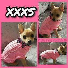 Chihuahua Clothes XXXS Dog Coat Teacup Size Knit Pet jumper also XXS XS Small