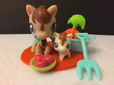 LITTLEST PET SHOP # 2666/2667 CUTEST PET HORSE/PONY SET AUTHENTIC