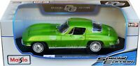 CHEVROLET CORVETTE 1965 1:18 Scale NEW Diecast Model Toy Miniature Car Green