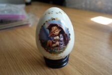 Hummel Danbury Porcelain Egg w/Stand - Umbrella Girl (1993)