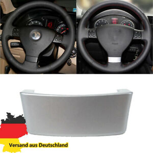 Lenkrad Abdeckung Emblem Blenden Clip Chrom für VW Golf 5 Passat B6 3C Eos Jetta