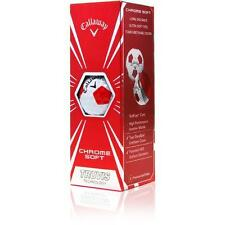 Callaway Chrome Soft Truvis Golf Balls - White/Red - (1) 3-Ball Sleeve - NEW!!!