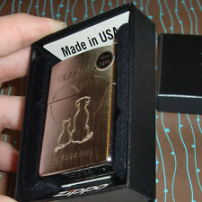 Zippo 29258 Cat Dog Heartbeat at your feet NEW in box Windproof Lighter