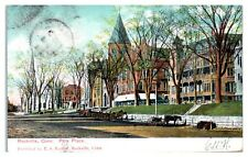 1908 Park Place, Street Scene Horses and Buggies, Rockville, CT Postcard