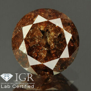 0.94 cts. CERTIFIED Round Brilliant Cut Brown Color Loose Natural Diamond 24635