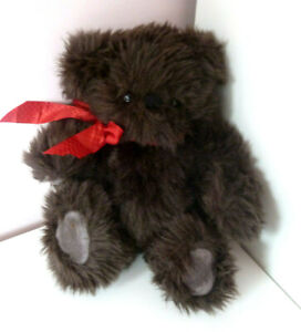 Asquiths Of Windsor Little John Teddy Bear Jointed Brown Soft Plush Toy 10""