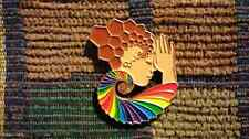Official Light Child Project DMT Molecule Sacred Geometry ROYGBIV Goddess Pin
