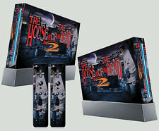 NINTENDO WII STICKER HOUSE OF THE DEAD 2 ZOMBIE HORROR GRAPHIC SKIN & 2 PAD SKIN