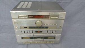 JVC DR-E45L - Vintage Hi-Fi Stereo System Stack - Cassette, Tuner, Amp - Working