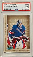 HENRIK LUNDQVIST ROOKIE 2005 PARKHURST CARD #646 PSA GRADED 9 NEW YORK RANGERS