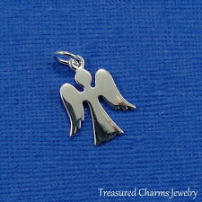 925 Sterling Silver Angel Charm - Heaven Prayer Memorial Pendant *NEW*