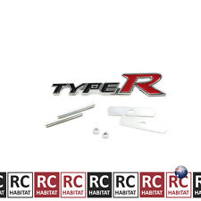 Black Honda Metal Auto Car Front Grille Badge Emblem TYPE R Logo Decals