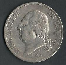 MONNAIE DE 5 FRANCS LOUIS XVIII EN ARGENT DE 1823 M @ TOULOUSE @ QUALITE @ N°2
