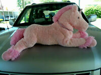 "Giant Jumbo 34"" plush stuffed Pink Unicorn Horse"