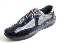 Prada Americas Cup Sneakers Blau Lackleder Damen Größe UK 5.5 EU 38.5 €500