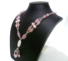Collane e pendagli di bigiotteria collier rosi pietra