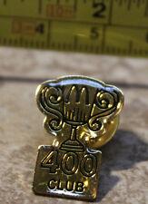 McDonalds 400 Club Trophy Shaped Employee Collectible Pinback Pin Button