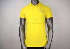 JUST CAVALLI SIGNATURE Men's Beachwear Slim Fit Polo Shirt Yellow Sz XXL / EU 54